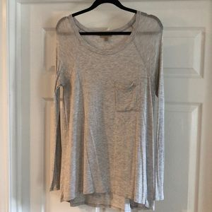Anthropologie Bordeaux grey long sleeve - size M